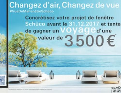 Avec IRIS Fenêtres et Schuco, tentez de gagner un voyage de 3 500 € !